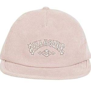 Billabong Pink Corduroy Baseball Cap